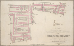 A plan of an estate belonging to the masters, governors and trustees of the Bedford Charity